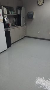 Picture of break room with new wax