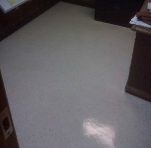 picture of floor tiles with new wax