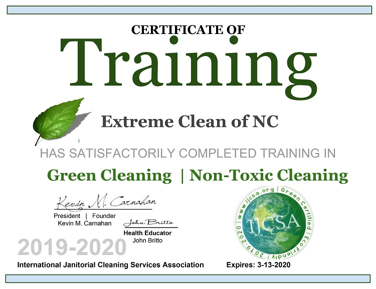 Green Cleaning Certification Image